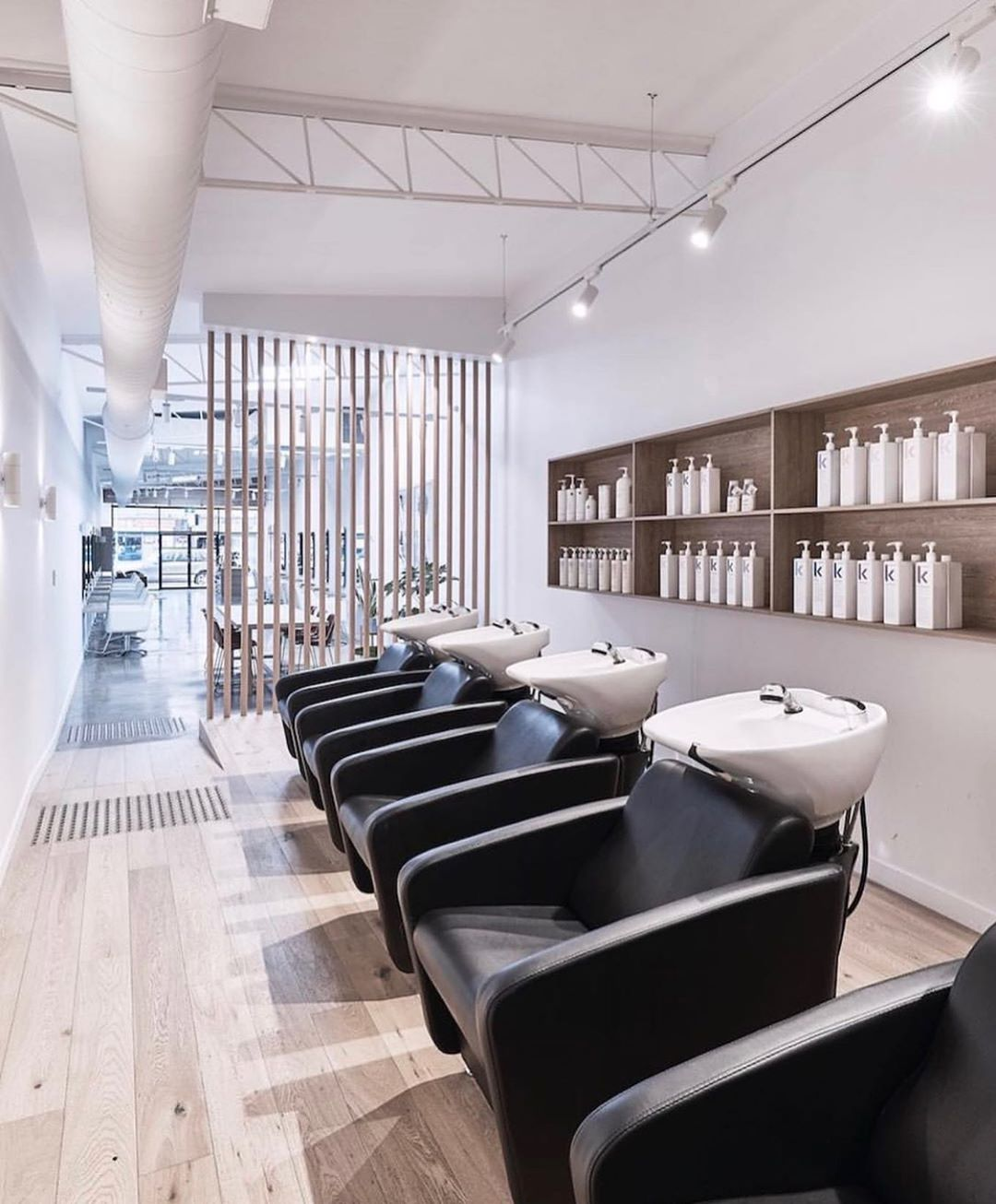 Interior of hair salon